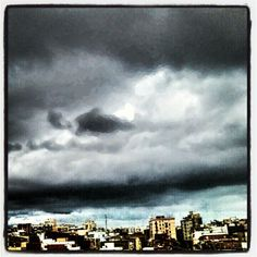 Black clouds over the city
