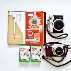 .@Leena Loh | Travel essentials in my bag. Midori Traveller's Notebook, Instax 90 Neo &... | Webstagram