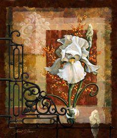 """""""Royal White Iris"""" / Janet Stever"""