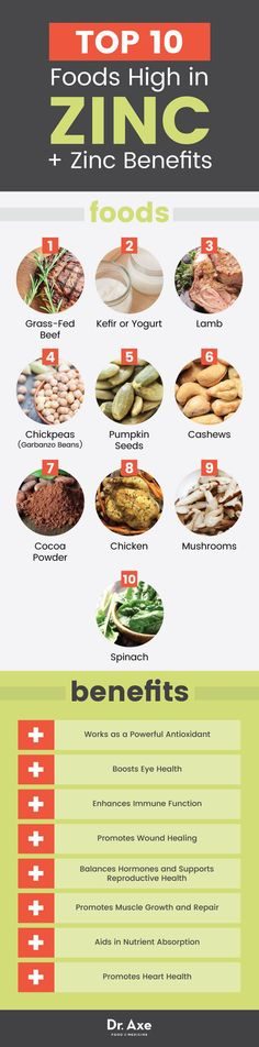 Top 10 foods high in zinc and zinc benefits - Dr. Axe http://www.draxe.com #health #holistic #natural