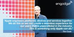 A closing quote from Apple's Tim Cook. Keynote, Closer, Engineering, Things To Come, Passion, Apple, Cooking, Quotes, Twitter