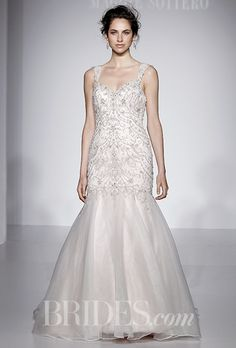 A soft mermaid @maggiesottero wedding dress | Brides.com