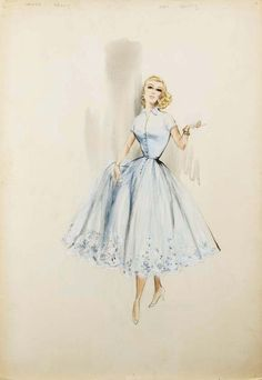 Image result for edith head illustrations