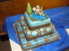decorations for a fishing theme baby shower under the sea cakes