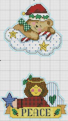 Cross-stitch Santa's