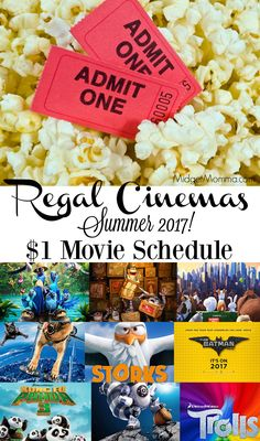Regal Cinemas Summer Movie Schedule. Select movies for just $1 all summer long at Regal Cinemas. Regal Cinemas $1 Movies. $1 Regal Cinemas Movie Schedule.
