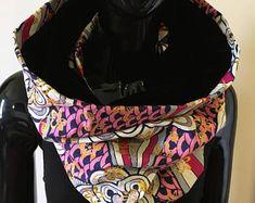 snood foulard infinity tube velours et wax #39 - Modifier une fiche produit - Etsy