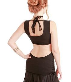 Black womens braided top, stretchy soft, stunning material, classy cut #Glimpse_by_TheFind