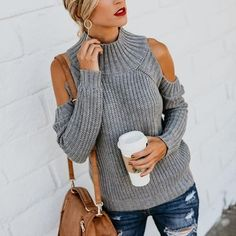 66552e7c9dff93 Turtle Neck Long Sleeve Hollow Out Fashion Knitting Sweaters