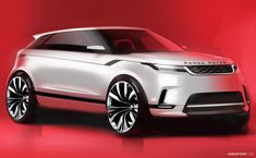 Land Rover has officially revealed the all-new Range Rover Evoque at a special event held in London. Land Rover Suv, Range Rover Jeep, Jaguar Land Rover, Range Rovers, Range Rover Evoque Interior, New Range Rover Evoque, Car Design Sketch, Car Sketch, Toyota Fj Cruiser