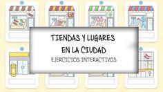 TIENDAS Y LUGARES EN LA CIUDAD | Profe-de-español.de High School Spanish, Spanish Teacher, Spanish Class, Teaching Spanish, Communities Unit, Cinema, The Unit, Community, Learning
