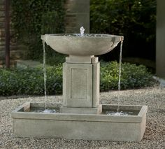 The Austin Fountain is the definition of Art Deco in the garden.