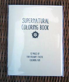 Supernatural Coloring Book by sweetgeek on Etsy https://www.etsy.com/listing/178408444/supernatural-coloring-book