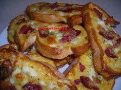 pizza ekmek Turkish Recipes, Pizza, French Toast, Brunch, Healthy Recipes, Healthy Food, Appetizers, Breakfast, Art
