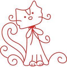 swirly kitty