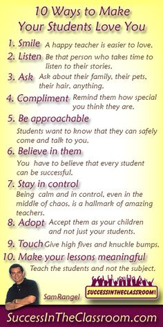 10 Ways to Make Your Students Love You
