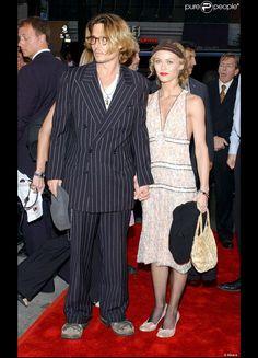 Vanessa Paradis et Johnny Depp à la première du film de monsieur, Il était une fois au Mexique... Desperado 2, en septembre 2003