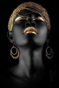Artsy, black & gold.