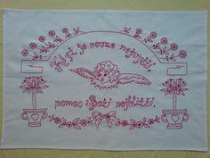 Vyšívaná kuchařka Ručně vyšívané bavlněné bílé plátno, rozměr cca 80x60 cm. Možnost po domluvě zhotovit v jiné barvě vyšívky, případně i plátna s dodáním nejpozději do dvou týdnů. Embroidery Patterns, Folk, Bullet Journal, Math, European Countries, Czech Republic, Crafts, Decor, Decoration