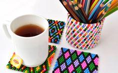 Cum se tes margelele Hama - By Oana Diy Projects, Tableware, Handmade, Tes, Hama, Dinnerware, Hand Made, Tablewares, Handyman Projects