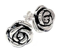 17mm Electro-forming 925 Sterling Silver Rose Earrings for Women with Butterfly Stud Style [SE0003] BKGjewelry http://www.amazon.com/dp/B015DQ0KIC/ref=cm_sw_r_pi_dp_329owb0SFJZ4Y