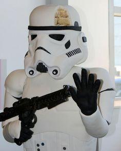 300-Pound Lifesize Standing Stormtrooper Cake