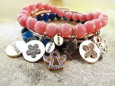 bead and charm bracelets, thew ultimate accessory this summer Bangles, Beaded Bracelets, Charm Bracelets, Stone Beads, Natural Stones, Finding Yourself, Charmed, Accessories, Jewelry