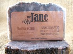 Mocha Soap  Coffee and Chocolate Exfoliating Soap  by TheJaneCo, $5.00