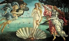 Why Viewers Are Drawn to Renaissance Artists' Go-To Pose Renaissance Kunst, Renaissance Artists, Renaissance Paintings, Italian Renaissance, Famous Art Paintings, Classic Paintings, Original Paintings, Birth Of Venus Botticelli, Venus Painting