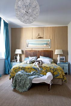 our duvet styled in a different way. via The Studio Blog - How Val Dwells - An Update | DwellStudio