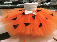 Pebbles Flintstone Costume Tutu NB 3T by imtutucrazy on Etsy