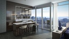 Suite 09 at The Residences of 488 University Avenue, designed by Core Architects for Amexon Corporation