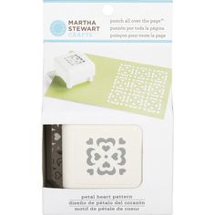 Amazon.com: Martha Stewart Crafts All Over The Page Punch, Petal Heart