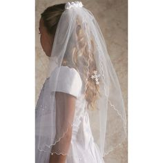 Bring out the bright light of faith with a First Holy Communion Satin Rose Comb Veil with Cross. On sale at Catholic gift shop Leaflet Missal.