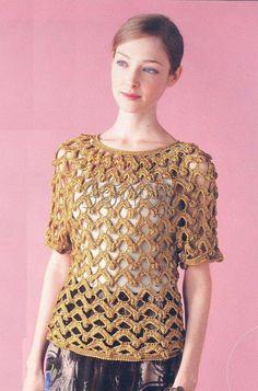 Ivelise Feito à Mão: Blusa em Crochê      ♪ ♪ ... #inspiration_crochet #diy GB http://www.pinterest.com/gigibrazil/boards/
