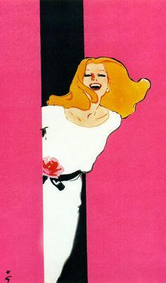 Miss Dior, Christian Dior by René Gruau Fashion Illustration Vintage, Illustration Mode, Fashion Illustrations, Retro Illustrations, Arte Fashion, Rene Gruau, Jacques Fath, Miss Dior, Pierre Balmain