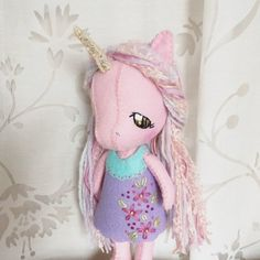 Adrienne Brown added a photo of their purchase Unicorn Doll, Baby Unicorn, Sweet Little Things, Felt Shoes, Labor, Fabric Dolls, Doll Patterns, Embroidery Stitches, Baby Animals