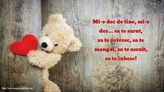 Viaţa ta să fie un basm frumos You Are Special, Amai, Happy Valentines Day, Crochet Hats, Teddy Bear, Jack Sparrow, Romance, Saints, Verses