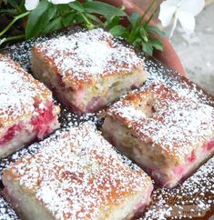 Rebarbarás epres sütemény Camembert Cheese, Dairy, Baking, Food, Summer, Summer Time, Bakken, Essen, Meals