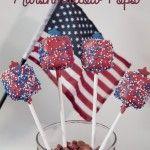 Patriotic Marshmallow Pops