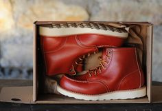 """Red Wing - Work Heritage, 6"""" Moc Toe, #8131, Oro Russet """"Portage"""""""