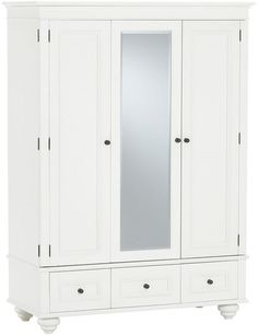 chelsea armoire simply white