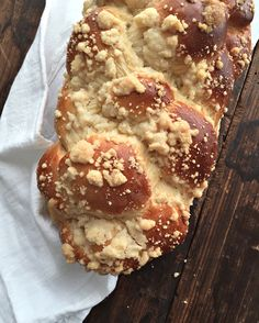 """On Rosh Hashanah we try to eat sweet things for a sweet new year. This challah is the perfect way to start your meal. Fresh Cake, Jewish Recipes, Jewish Desserts, Chocolate Chip Cookie Dough, Pain, Food Dishes, Holiday Recipes, Cake Cookies, Counter"