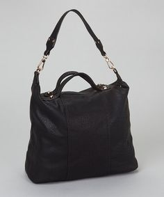 Take a look at this Black Classic Hobo by Pink Cosmo on #zulily today!