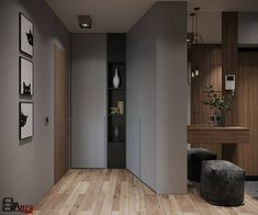 Entry Hall, Tall Cabinet Storage, New Homes, Corridor, Interior Design, Architecture, Wardrobes, Room, Fire