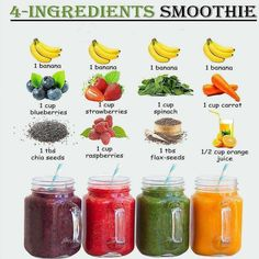 Fruit Smoothie Recipes, Easy Smoothies, Smoothie Drinks, Smoothie Diet, Weight Loss Smoothies, Green Smoothies, Healthy Juices, Healthy Drinks, Healthy Snacks