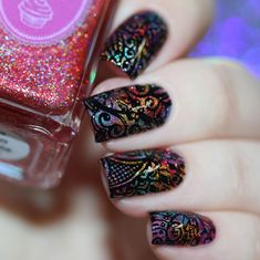 This stamping plate is breathtaking with Hand of Hamsa, paisley and floral designs to stamp your next manicure with. Nail Design Kit, Nail Designs, Floral Designs, Nail Stamping Plates, Types Of Nails, Hamsa Hand, Fun Nails, Moo, Class Ring