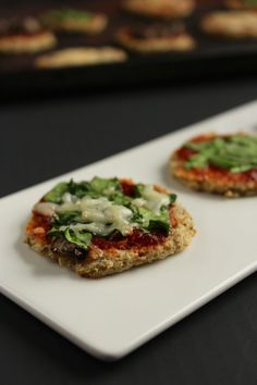 another weekend must try... Mini Cauliflower Crust Pizza Bites