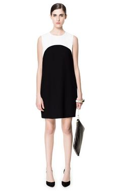 Combined dress from ZARA. Great black and white mix