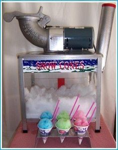 The snow cone machine rental is a Milwaukee Wisconsin summer picnic party rental favorite. The Snow Cone Value Package is a tabletop snow cone machine rental complete with Sno-Cone cups, straws and juice. Bounce House Birthday, Bounce House Parties, House Party, Circus Party, Luau Party, Party Fun, Party Time, Frozen Party, Frozen Birthday